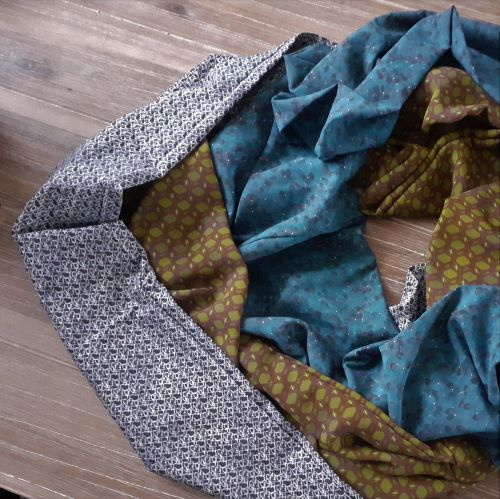 Design a pattern to print on a fabric and make your own scarf.